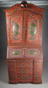 Trehvitt åttekantet bord, 1800 t. D: 97 cm.