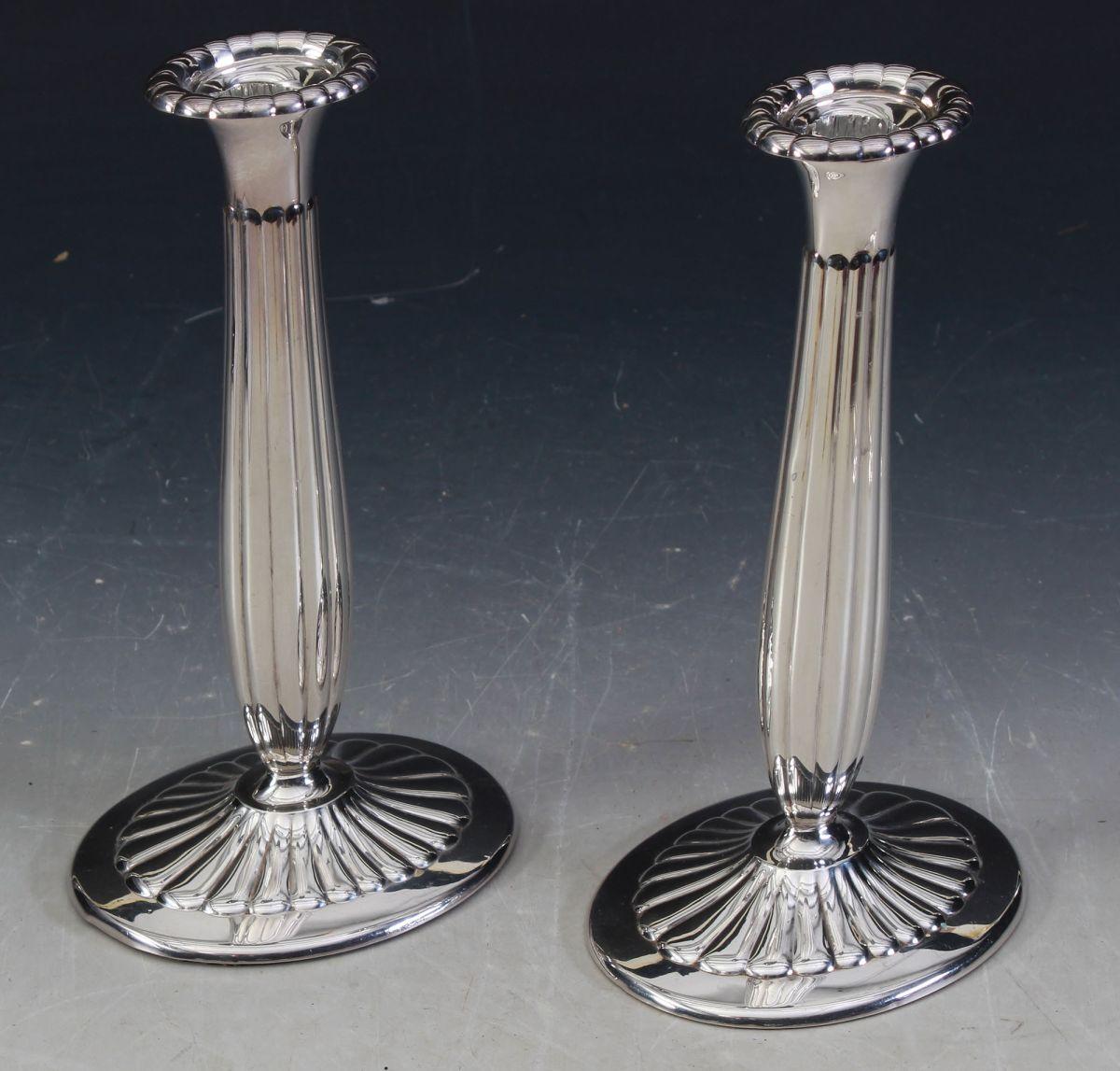 Fabelaktig Et par lysestaker i sølv, H: 22 cm. YC-63